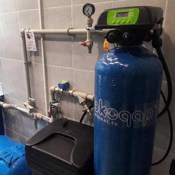 Пример монтажа Системы умягчения воды EMS S